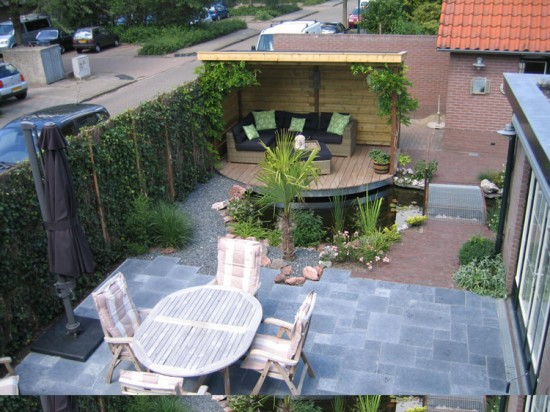 Natuursteen in tuinen terrassen bestrating vijveromlijstingen